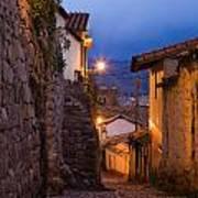 Evening In Cusco  Art Print