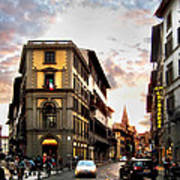 Evening In Florence Art Print