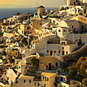 evening in Oia Art Print