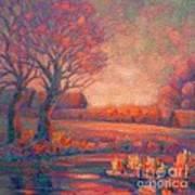 Evening In Tarasovka. Art Print
