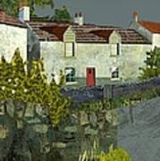 Evening In The Village. Art Print by Kenneth North