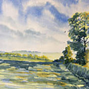Evening Light On The Woldsway Art Print