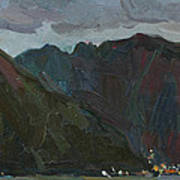 Evening Mountains In The Gulf Art Print