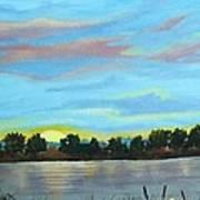Evening On Ema River Art Print
