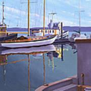 Evening On Malaspina Strait Art Print