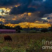 Evening On The Farm One Art Print