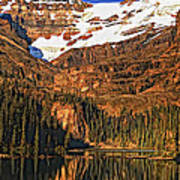Evening On The Great Divide Painted Art Print