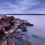 Evening On Tuttle Creek Lake In Kansas Art Print