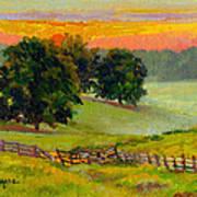 Evening Pastures Art Print