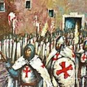 Templar Procession  Art Print
