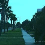 Evening Stroll At Isle Of Palms Art Print
