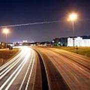 Evening Traffic On Highway Art Print