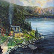 Evening Visitors Art Print