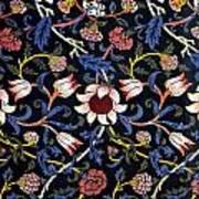 Evenlode In Blue Design Art Print