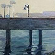 Eventide At The Oceanside Harbor Fishing Pier Art Print