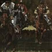 Eventing Horses Over Jump Art Print