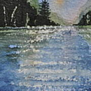 Evergreen Shore Art Print
