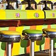 Evergreen State Fair Midway Game With Coloful Stools And Squirt  Art Print