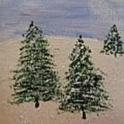 Evergreen Winter Art Print
