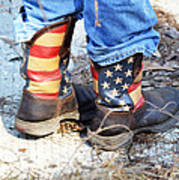 Every Day American Fishing Boots Art Print