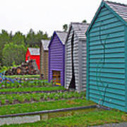 Every Garden Needs A Shed And Lawn Two In Les Jardins De Metis/reford Gardens Near Grand Metis-qc Art Print