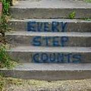 Every Step Counts Art Print