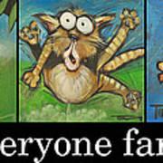 Everyone Farts Poster Art Print