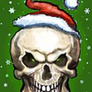Evil Christmas Skull Art Print