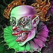 Evil Clown By Spano Art Print