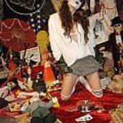 Evil Schoolgirl 207 Art Print