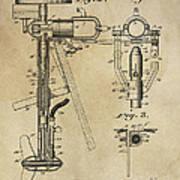 Evinrude Outboard Marine Engine Patent  1910 Art Print