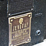 Evita Burial Vault Art Print
