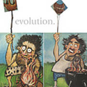 Evolution The Poster Art Print