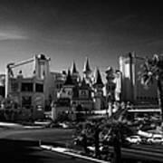 excalibur hotel and casino on the Las Vegas boulevard strip Nevada USA Art Print