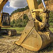Excavator At Big Rock Quarry - Emerald Park - Arkansas Art Print
