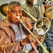 Excelsior Band Horn Player Art Print