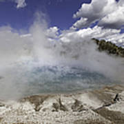Excelsior Geyser Crater In Yellowstone National Park Art Print