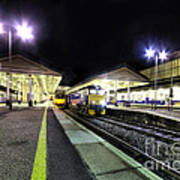 Exeter St Davids By Night  Art Print by Rob Hawkins