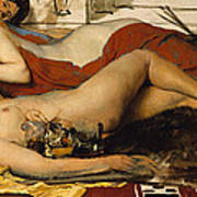 Exhausted Maenides Print by Sir Lawrence Alma Tadema