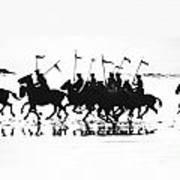Exhibition Platoon Of The 11th U.s. Cavalry On Del Monte Beach Monterey California 1935 Art Print