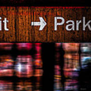 Exit Park Art Print