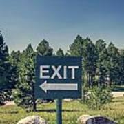 Exit Sign Art Print
