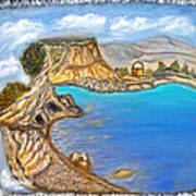 Exotic Beach Near Limassol Art Print