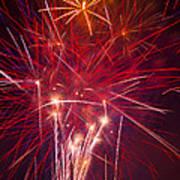 Exploding Fireworks Art Print