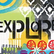 Explore- Contemporary Abstract Art Art Print