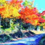Explosion Of Color - Blue Ridge Mountains II Art Print
