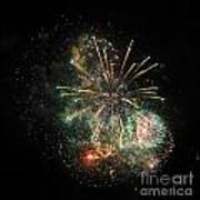 Explosion Of Color On Canada Day Art Print