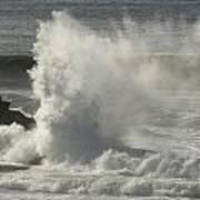 Explosive Wave At Mavericks Point Art Print