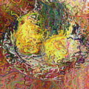 Expressionist 2 Messy Pears Art Print