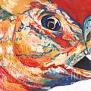 Expressionist Blue Gill on Lure Art Print